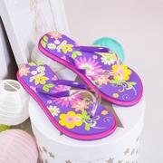 papuci de plaja dama cu flori