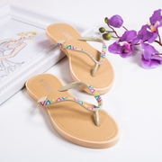 papuci de plaja dama cu floricele