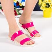 papuci de plaja dama roz