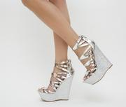 platforme dama argintii