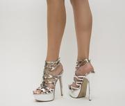 sandale cu toc inalt de ocazie