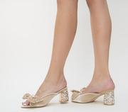 sandale cu toc mic de ocazie