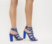 sandale de ocazie albastre