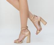 sandale de ocazie cu toc gros