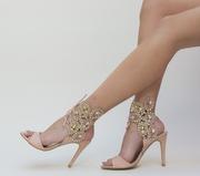 sandale de ocazie cu toc ieftine