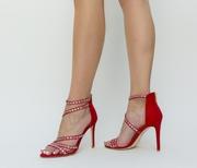 sandale de ocazie rosii ieftine