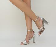sandale de vara argintii