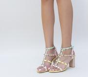 sandale de vara cu toc mediu