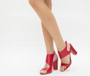 sandale de vara rosii