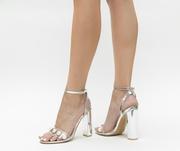 sandale elegante argintii