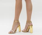 sandale elegante aurii