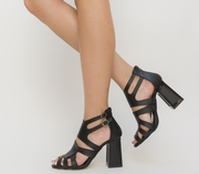 sandale elegante cu toc gros