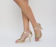 sandale elegante cu toc jos