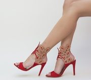 sandale elegante rosii