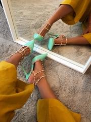 sandale elegante verzi