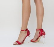 sandale rosii de ocazie