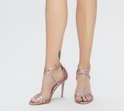 sandale roz de ocazie